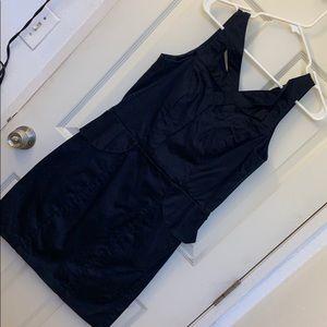 USED black peplum dress | XOXO | 13/14